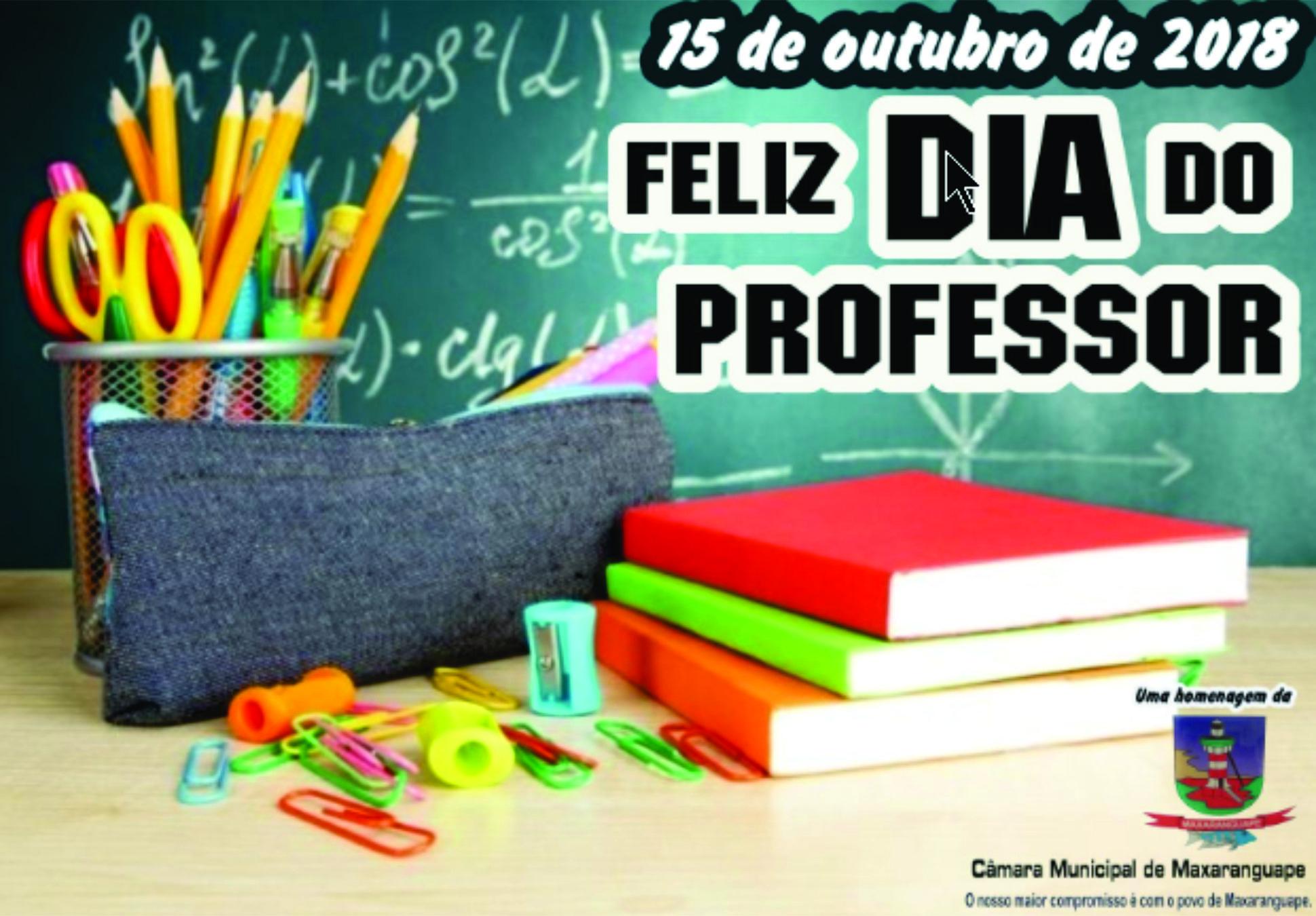 Câmara Municipal de Maxaranguape parabeniza a todos os professores pelo seu dia