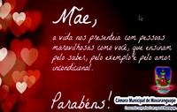 Mensagem do Dia das Mães do Poder legislativo Maxaranguapense